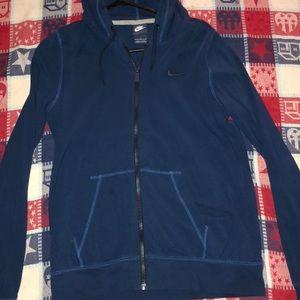 blue zip up nike sweater